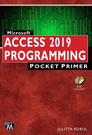 Microsoft Access 2019 Programming Pocket Primer